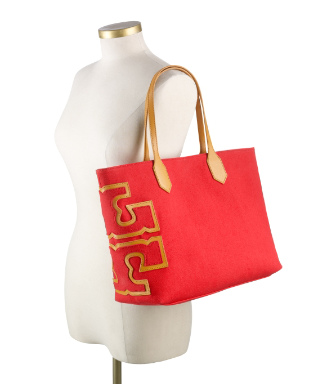 "Tory Burch Stacked ""t"" Tote"