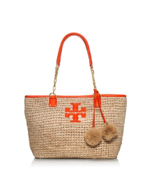 Tory Burch Thea Straw Small Tote