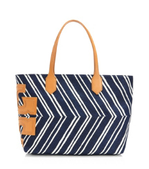 "Stripe Stacked ""T"" Tote"