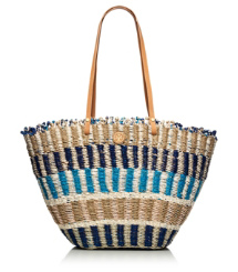 MULTI STRAW TOTE | TORY NAVY/NATURAL MULTI | 409