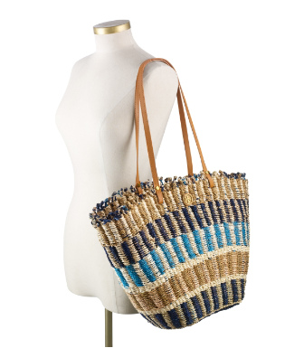 Tory Navy/natural Multi Tory Burch Multi-color Straw Tote