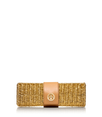Tory Burch Chunky Straw Clutch