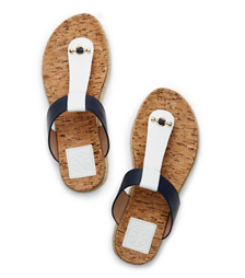 Tory Burch Cork-footbed Flat Thong Sandal