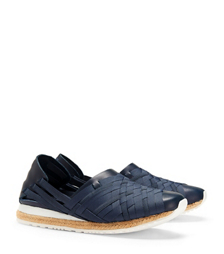 Navy Tory Burch Elastic Huarache Slip On-sneaker