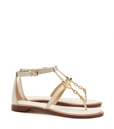 Dark Ivory Tory Burch Toggle Flat Sandal