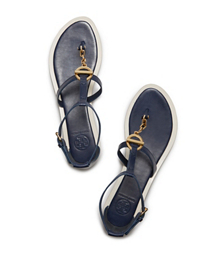Baltic Blue Tory Burch Toggle Flat Sandal