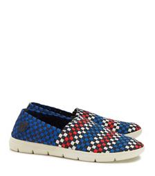 Tory Burch Checkered Weave Slip-on Sneaker