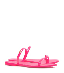 Fluo Pink Tory Burch Two-band Jelly Slide
