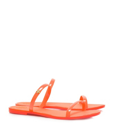 Poppy Coral Tory Burch Two-band Jelly Slide