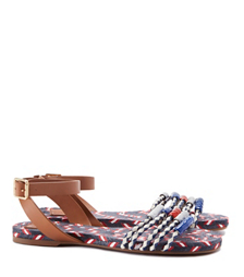 Tory Burch Braided Leather Flat Sandal