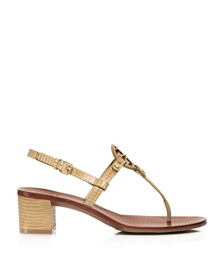 Trench Tan Tory Burch Mini Miller Sandal