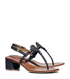 Tory Navy Tory Burch Mini Miller Sandal