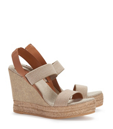 Tory Burch Bi-color Two-band Wedge Slingback