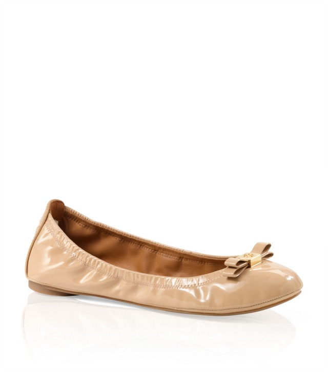 Patent Leather Eddie Bow Ballet Flat