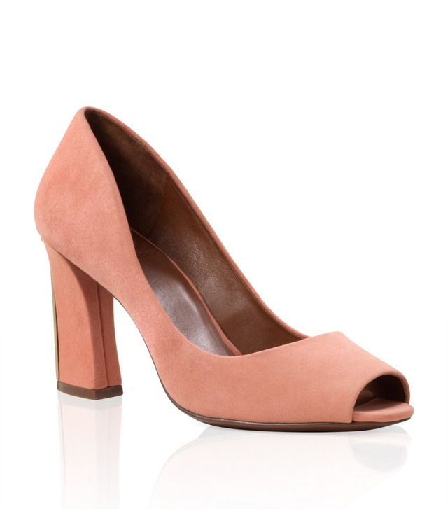 Suede Georgiana Peep Toe