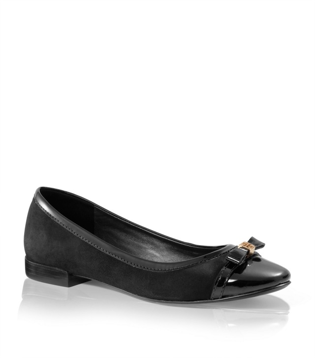 Suede and Leather Addyson Ballet Flat