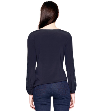 Med Navy Tory Burch Lillian Top