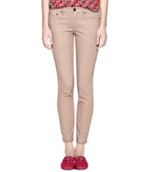 Shell Tory Burch Izzy Zip Ankle Skinny Jean