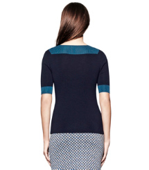 Med Navy / Evening Sky Tory Burch Juliet Sweater