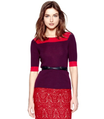 Washed Red Wine/cherry Wine Tory Burch Juliet Sweater