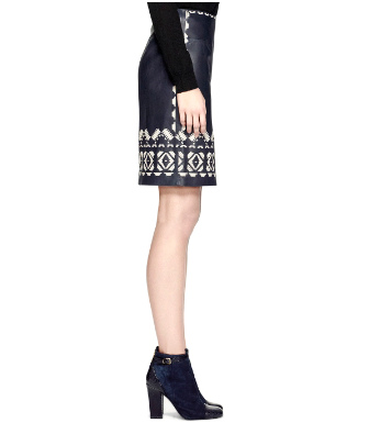Tory Burch Leather Brianna Skirt