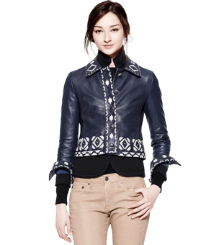 Tory Burch Leather Brianna Jacket