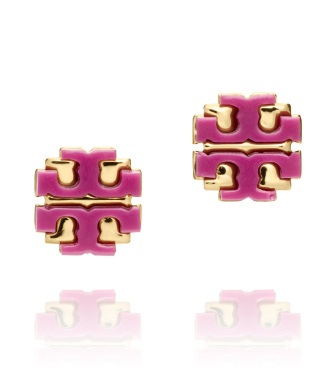 "Wildflower Tory Burch Resin Large ""t"" Logo Stud"