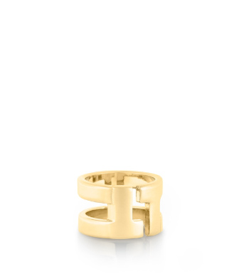 Shiny Gold Tory Burch Tripp Metal Ring