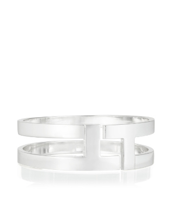 Tory Silver Tory Burch Tripp Metal Bangle