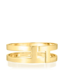 Shiny Gold Tory Burch Tripp Metal Bangle