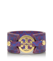 Imperial Purple Multi Tory Burch Skinny Double Snap Bracelet