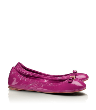 Tory Burch Patent Leather Eddie Ballet Flat