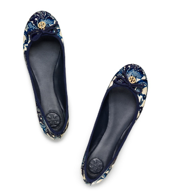 Printed Patent Leather Chelsea Ballet Flat
