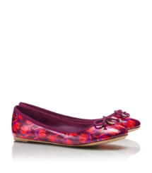 Tory Burch Printed Patent Leather Chelsea Ballet Flat