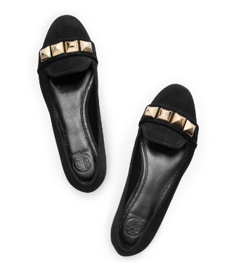 Tory Burch Suede Asher Smoking Slipper