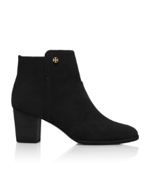 SABE 65MM BOOTIE- SPLIT SUEDE | BLACK | 001