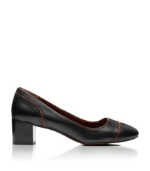 JULIET 50MM PUMP- EQUESTRIAN CALF | BLACK/ALMOND | 011