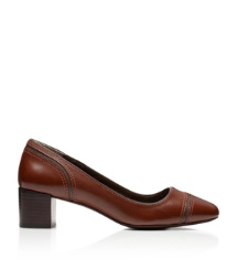 JULIET 50MM PUMP- EQUESTRIAN CALF | ALMOND/LAN GREY | 224