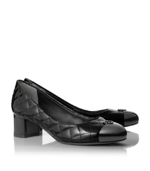 KAITLIN 45MM PUMP- BALLET PATENT CALF | BLACK/BLACK | 009