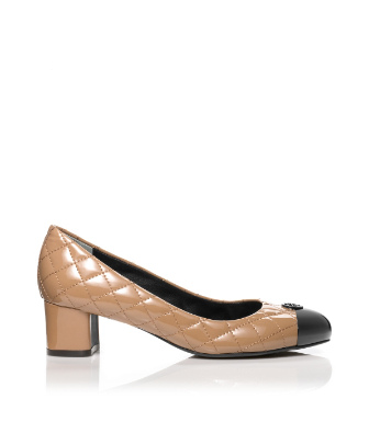 Sand/black Tory Burch Patent Leather Kaitlin Pump