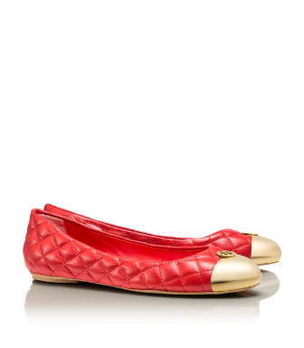 Tory Red/gold Tory Burch Kaitlin Ballet Flat