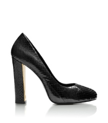DELILAH 115MM PUMP - TWO TONE SNAKE | BLACK | 001