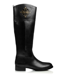 KIERNAN 35MM RIDING BOOT- FINNI VEG LEATHER | BLACK | 001