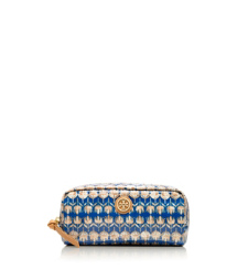 Tory Burch Printed Coated Poplin Cosmetic Case
