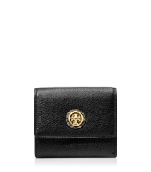 Tory Burch Clay Python Print French Tri-fold Wallet