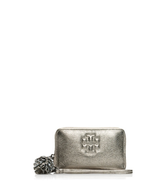 Tory Burch Metallic Thea Smart Phone Wristlet