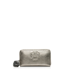 Tory Burch Metallic Thea Zip Continental Wallet