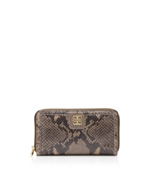 Tory Burch Catalina Snake Zip Continental Wallet