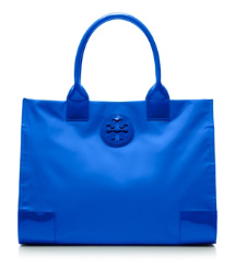 Peacock Blue Tory Burch Nylon Ella Tote