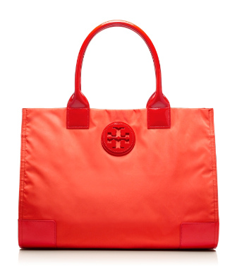 Electric Orange Tory Burch Nylon Ella Tote